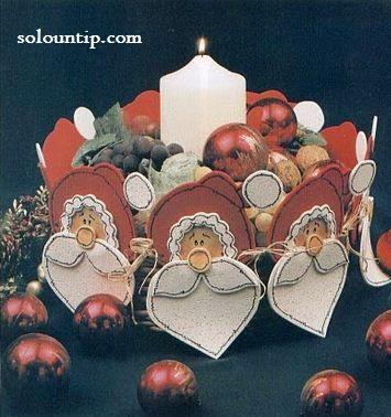 Manualidades centros de mesa navideños
