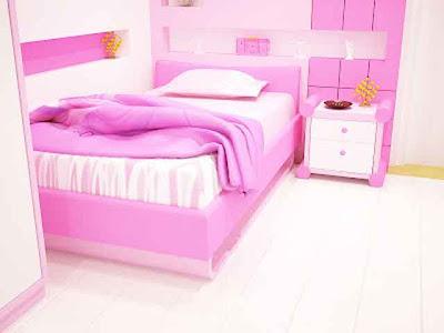 Desain Interior Ruang Tidur Pink Minmalis 04