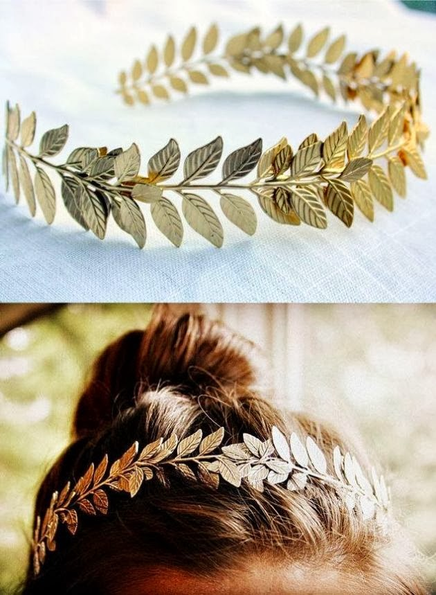 Adorable cute golden leaf plated hair band fashion