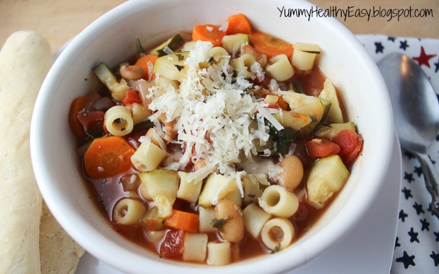 The BEST Crock Pot Minestrone Soup - Yummy Healthy Easy