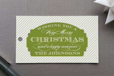 merry label holiday christmas gift tag design sarah brown