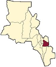 Ubicación del Departamento en el mapa provincial