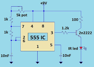 TV Remote Jammer Using 555 IC