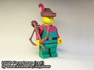 LEGO Papercraft Forestman (red)
