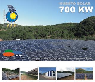 Huerto solar fotovoltaico 700 KW sierra calderona inderen energias renovables instaladores donde comprar