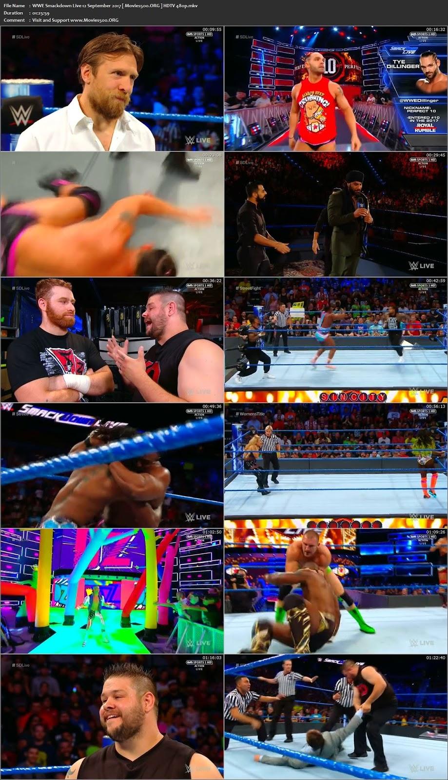 WWE Smackdown Live 12 SEPTEMBER 2017 HDTV 337MB Download 480p