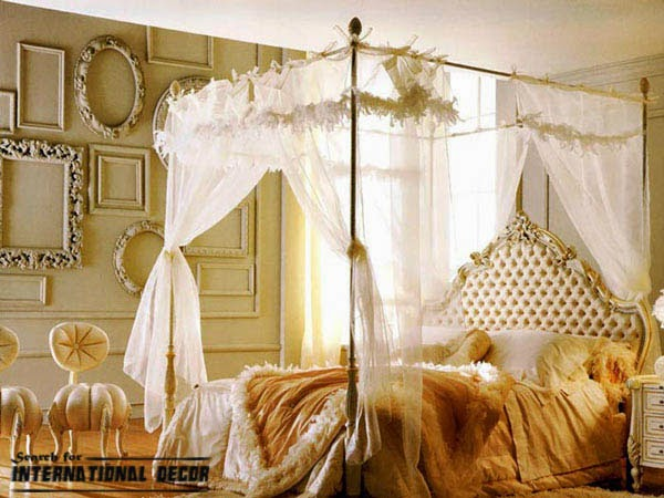 Wonderful Four Poster Bed And Canopy For Romantic Bedroom