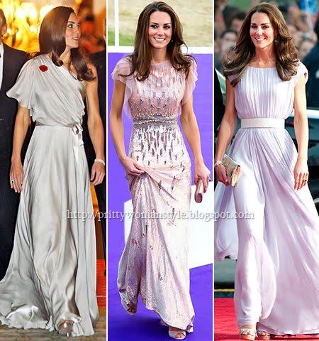 Кейт Мидълтън с дълги вечерни рокли