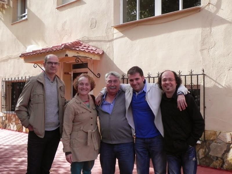 Benjamín, Cristina, Javinchi, Antoka y Juan Carlos