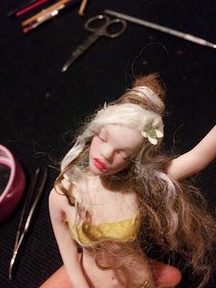 Ooak fairy: sleeping beauty. Ooak la bella addormentata nel bosco. Handmade in prosculpt light.