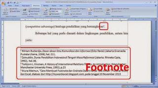 Cara Membuat Footnote dan Endnote Pada Microsoft Word
