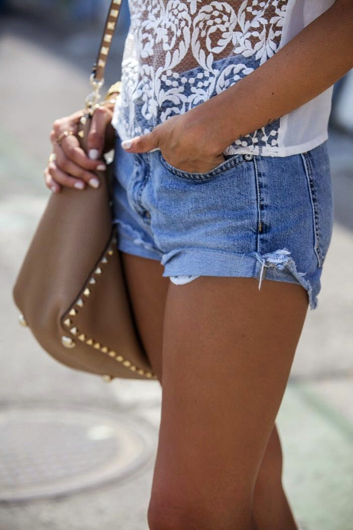 sheer lace-rockstud-cutoffs
