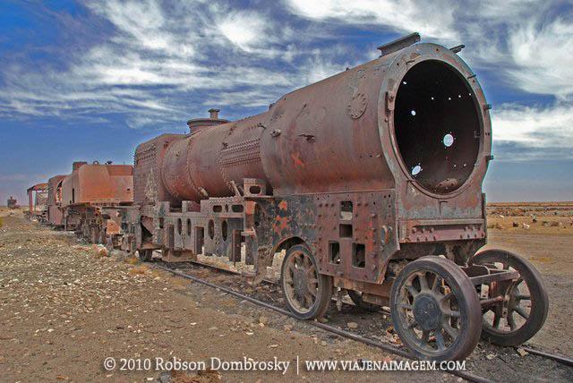 cemitério de trens na bolívia