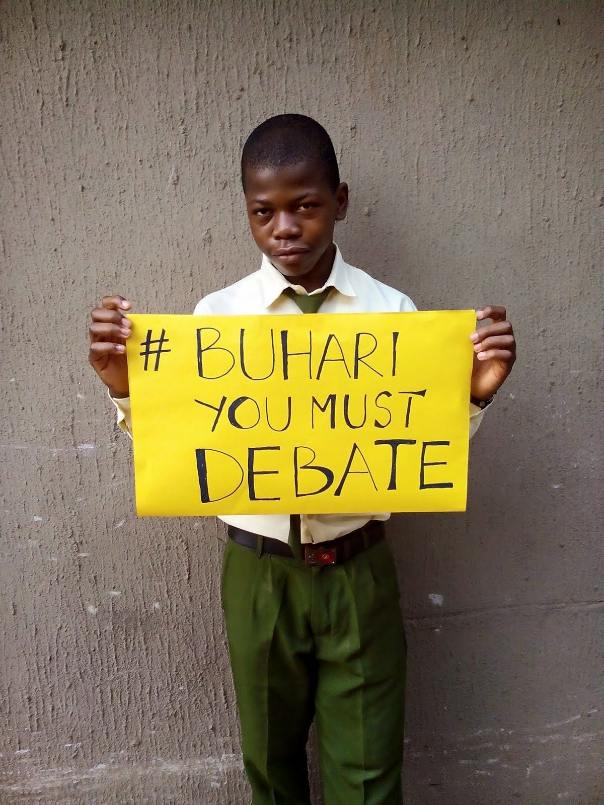 BUHARI MUST DEBATE