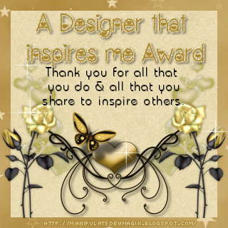 A  Designer That inspires me Award