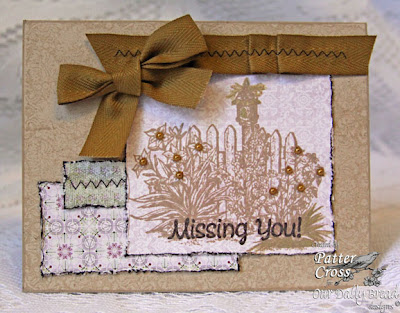 "Our Daily Bread designs ""Missing You"" Designer Patter Cross"