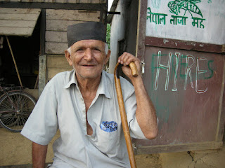 old man in Chitwan Nepal
