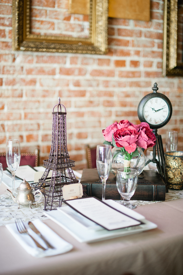 Paris table theme