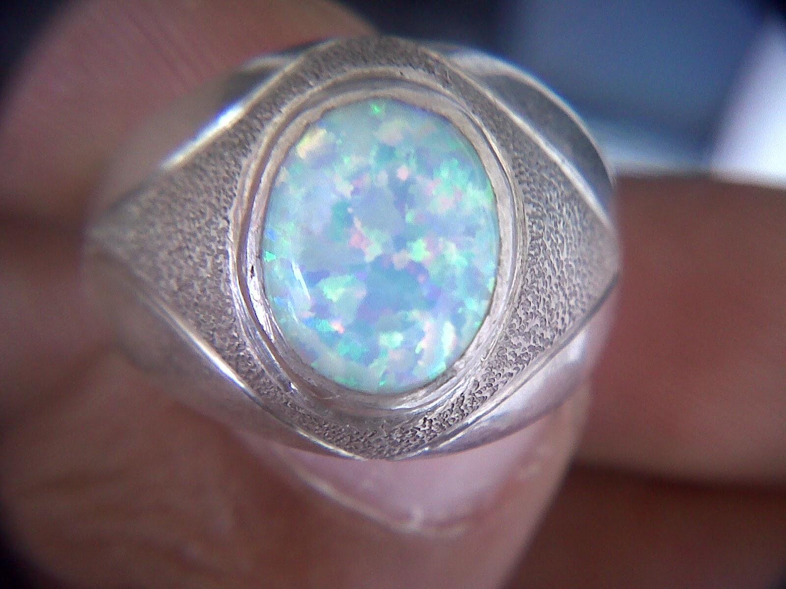 Cincin Batu Opal Kalimaya Putih buat Mangsa Kapat