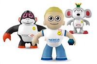 Bonecos representam personalidades de marcas.