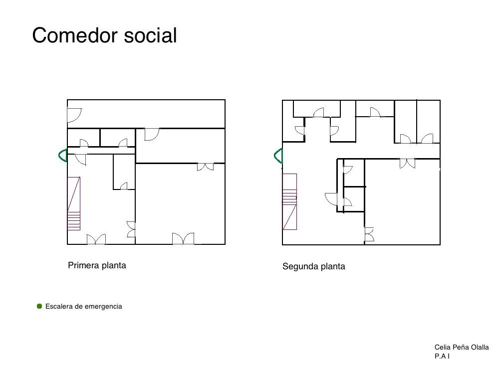 Proyectos arquitect nicos i proyecto 3 comedor social for Proyecto comedor social