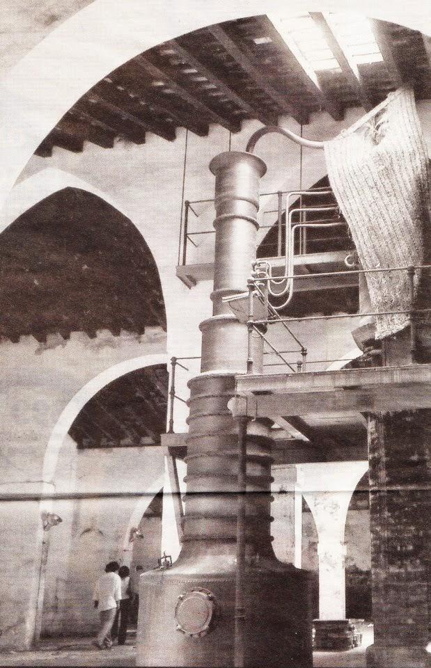 Desaparecido alambique de Bodegas Valdespino