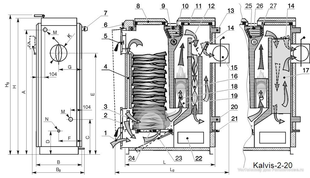 Газовый котел своими руками чертежи 973