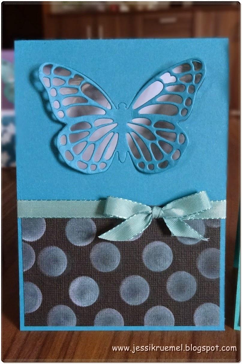 Frühlingsmini, Stampin' Up!, Schmetterling, Schmetterlingsgruß, BigShot, Fingerschwämmchen, www.stempelfreundin.de