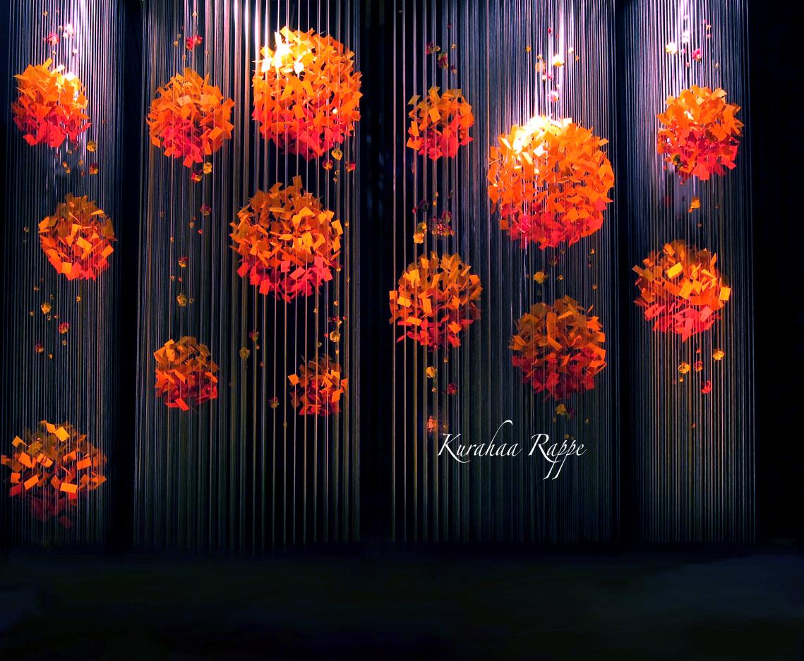 Kurahaa Rappe Autumn Wedding Backdrop