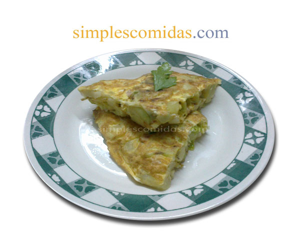 tortilla de puerro y papa