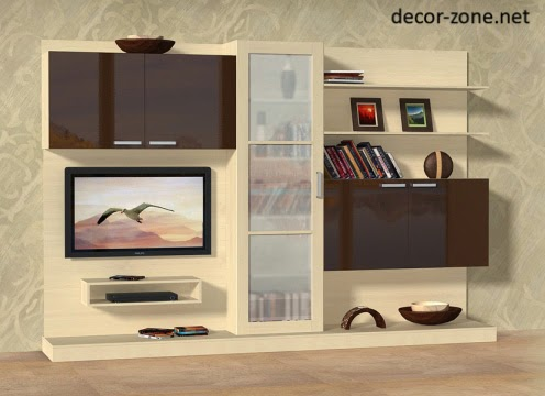 living room design ideas, TV wall units for living room | Decor Zone