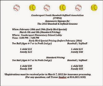 2-18 &19, 3-4& 5 Baseball Sign-ups