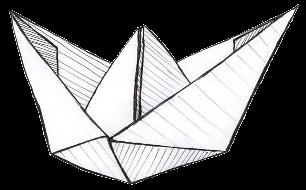 Basta poco per creare cose belle. Come una barchetta di carta.