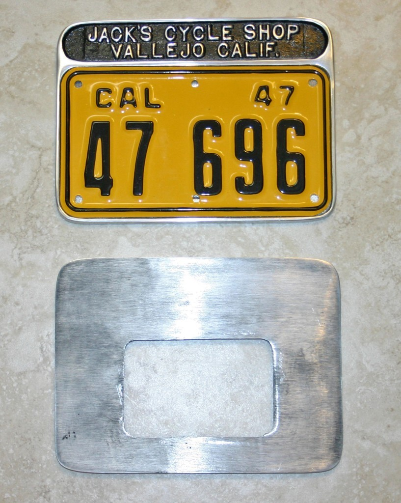 Cast Aluminum 1940s / 1950s Motorcycle License Plate Frames – Skip ...