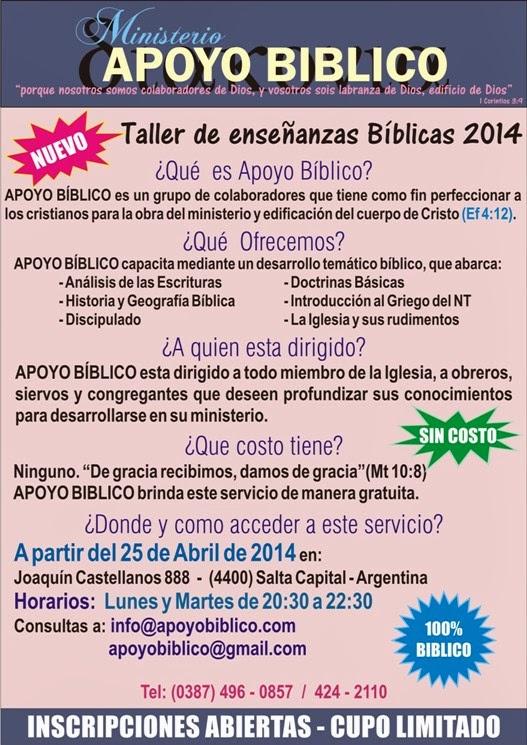 TALLER DE ENSEÑANZA BÍBLICA 2014