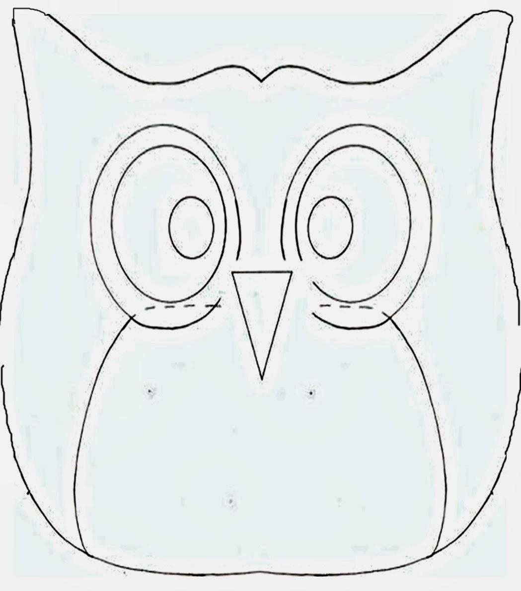Фото схема выкройка совы