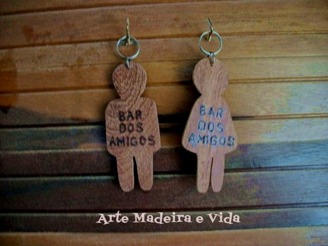 Arte, Madeira e Vida Chaveiros para banheiro de bar ou restaurante # Banheiro Feminino De Restaurante