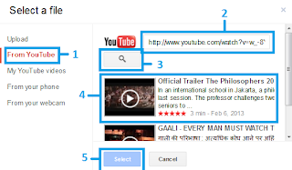 Upload/menambahkan video dari Youtube ke blog