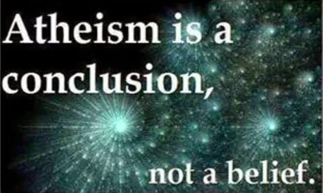 atheism is a conclusion quote picture