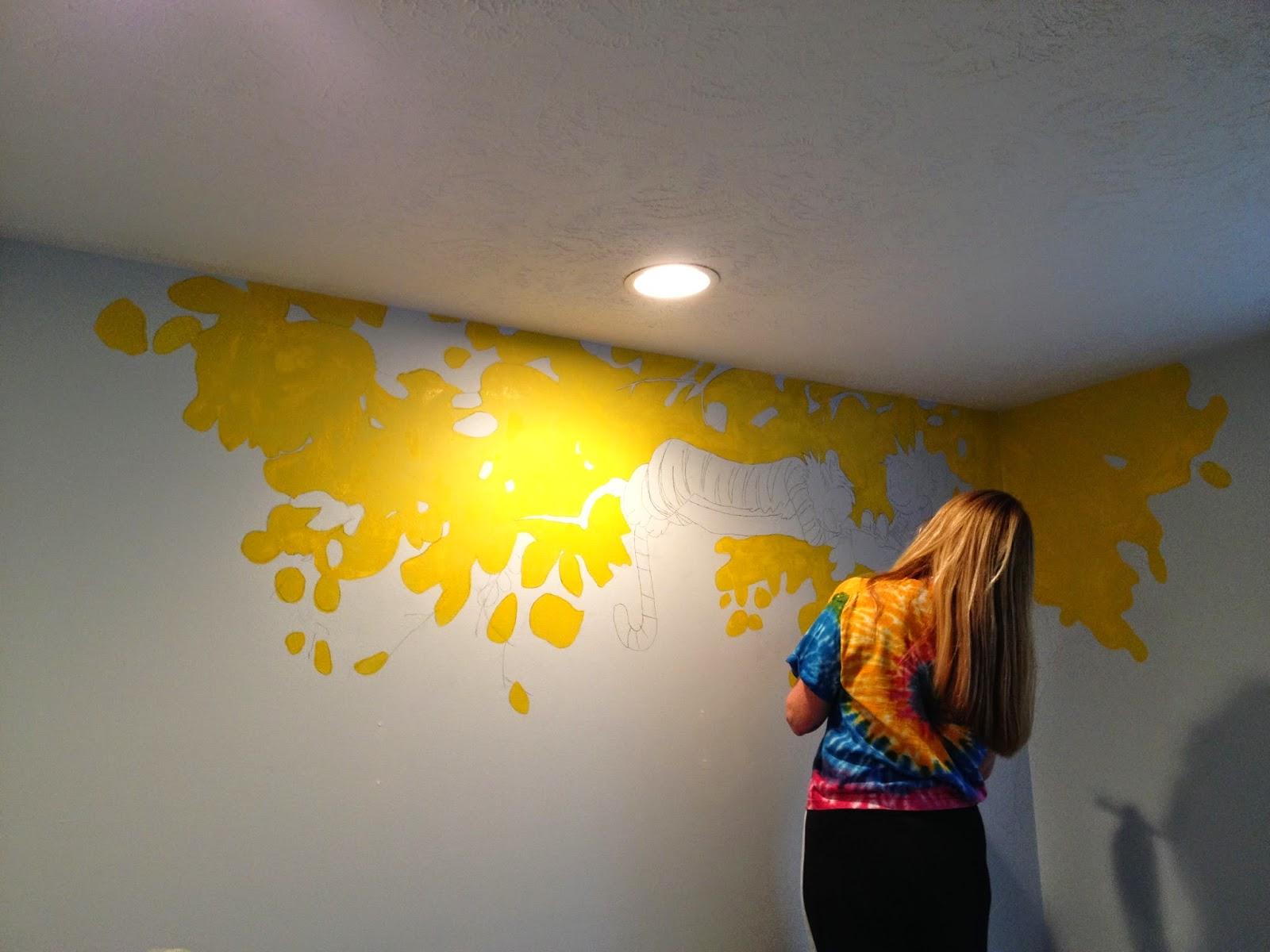 Life is Sweet*: Our Calvin & Hobbes Mural for the Nursery!!