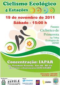 Passeio Ciclístico Ecológico IAPAR - Primavera 2011 (JÁ REALIZADO)