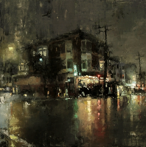 03-Andalu-at-Night-Jeremy-Mann-Figurative-Painting-in-Cityscapes-Oil-Paintings-www-designstack-co