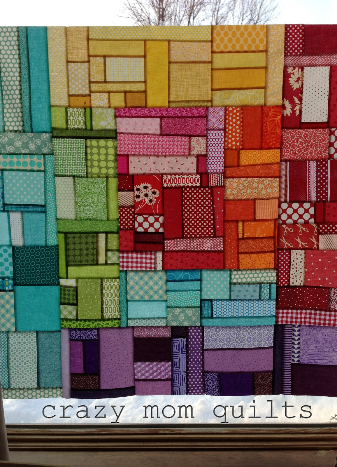 crazy mom quilts: log cabin