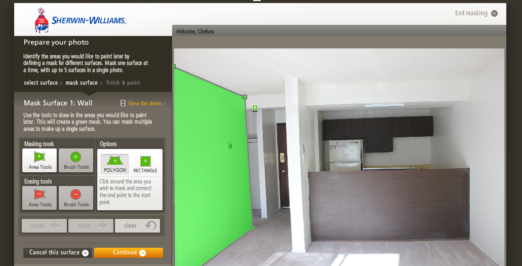 Welcome to apartment 205b sherwin williams color for Design your home online with room visualizer