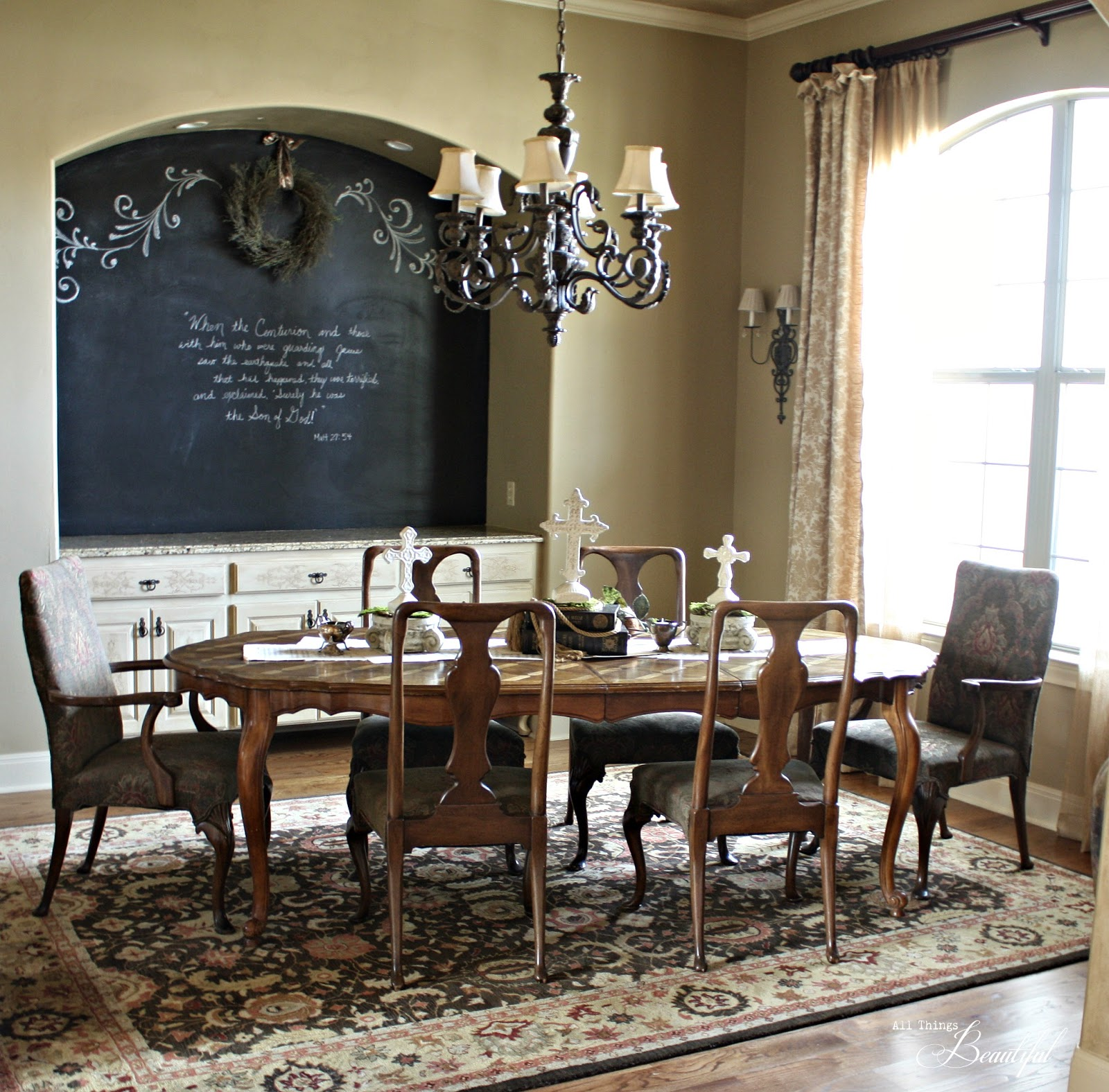 Easter {Chalkboard} Dining Room
