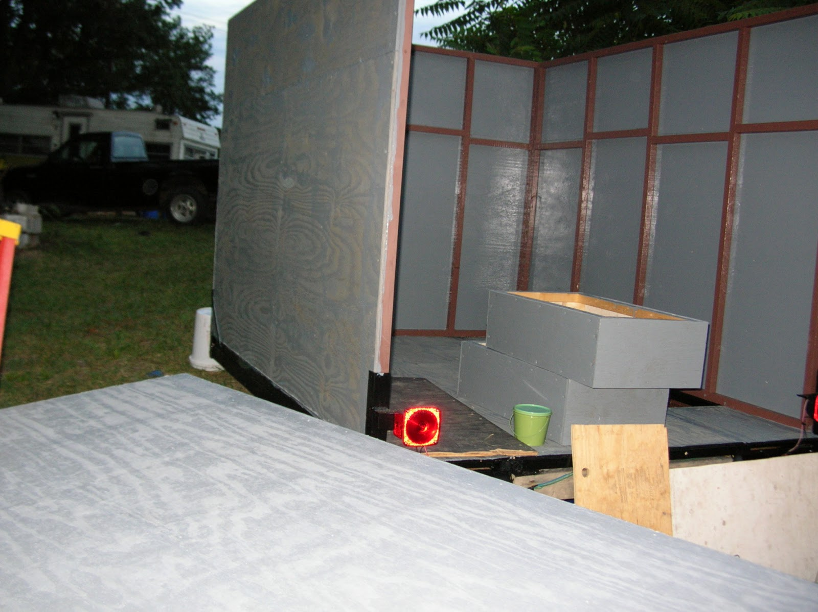 Build Your Own Enclosed Trailer Using A Pop Up Camper Frame