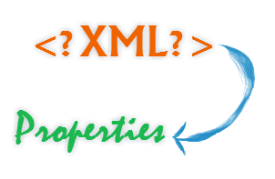 Convert XML file to Java Properties file