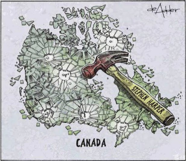 Michael de Adder: Stephen Harper smashes Canada.