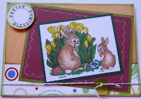 Digital Stamp, Easter Bunny, card by Tee
