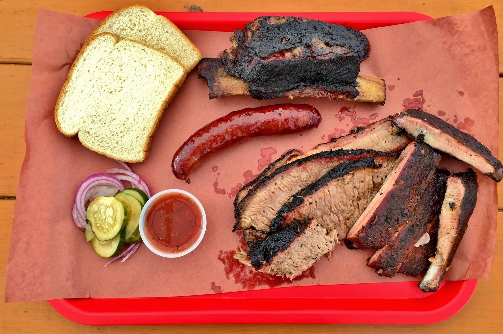 A spread of meats from Kerlin BBQ in East Austin